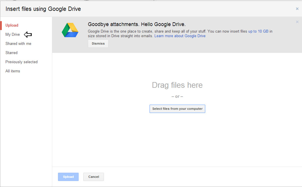drive window gmail